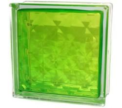 Стеклоблок  Алмаз салатовый