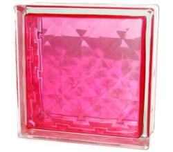 Стеклоблок  Алмаз розовый