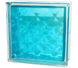 Стеклоблок  Алмаз бирюзовый