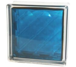 Стеклоблок  Алмаз синий