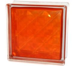 Стеклоблок  Алмаз оранжевый