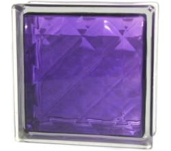 Стеклоблок  Алмаз фиолетовый
