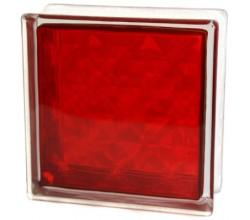 Стеклоблок  Алмаз красный