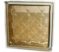 Стеклоблок  Алмаз коричневый