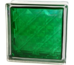 Стеклоблок  Алмаз зеленый