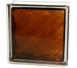 Стеклоблок  Алмаз бронзовый