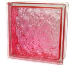 Стеклоблок  Капля розовый