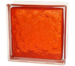 Стеклоблок  Капля оранжевый