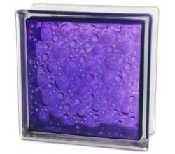 Стеклоблок  Капля фиолетовый