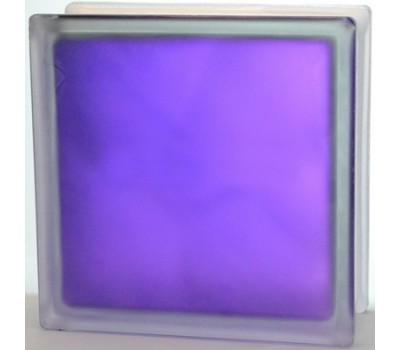 Стеклоблок фиолетовый Волна матовый с одной стороны