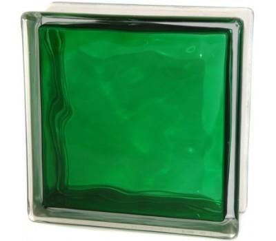 Стеклоблок зеленый   Волна