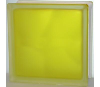 Стеклоблок желтый  Волна матовый с одной стороны