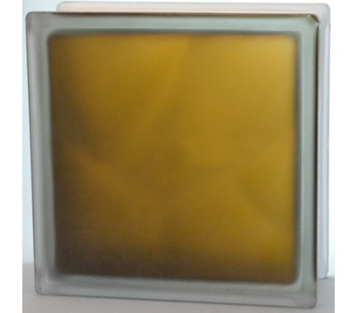 Стеклоблок бронзовый Волна матовый с одной стороны