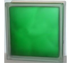 Стеклоблок зеленый Волна полуматовый
