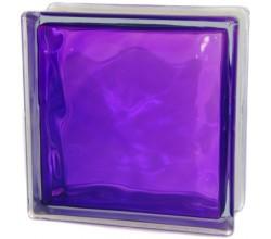 Стеклоблок фиолетовый Волна