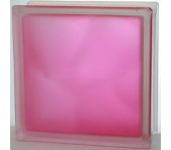 Стеклоблок розовый Волна полуматовый