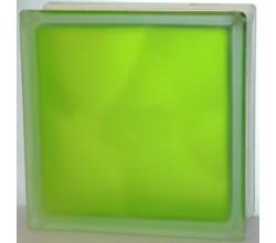 Стеклоблок салатовый Волна полуматовый