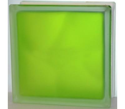 Стеклоблок салатовый Волна матовый с одной стороны