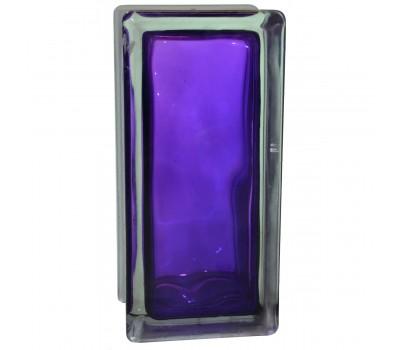 Стеклоблок половинка волна фиолетовый