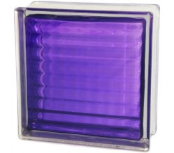 Стеклоблок  Сетка фиолетовый