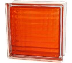 Стеклоблок  Сетка оранжевый