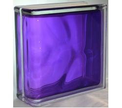 Стеклоблок торцевой волна фиолетовый