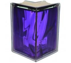 Стеклоблок угловой фиолетовый