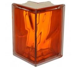 Стеклоблок угловой оранжевый