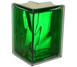 Стеклоблок угловой зеленый