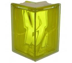 Стеклоблок угловой желтый